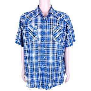 Ely Cattleman Men Pearl Snap Button Shirt Western